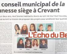 Conseil Municipal de la Jeunesse dans l'Echo de Berry