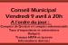 Réunion du Conseil Municipal le 09 avril 2021