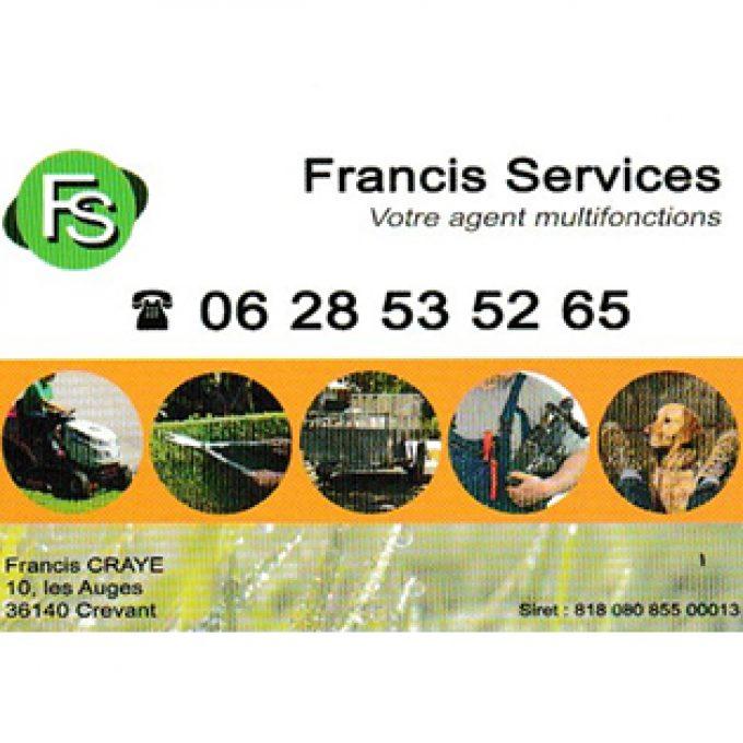 Travaux d'Entretien – Francis Services