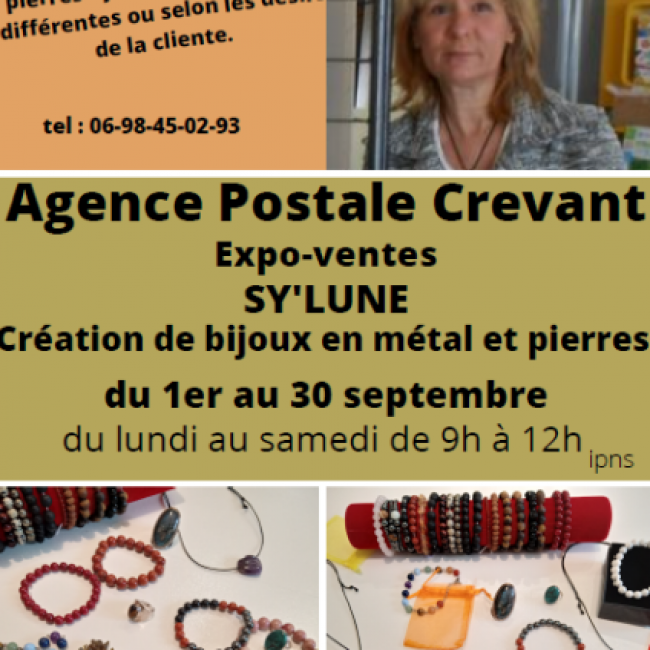 Expo-ventes : Sy'lune, création de bijoux en pierre